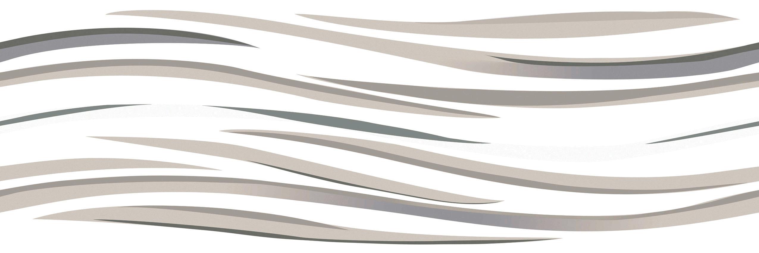 LONGFAVOR white wave 300x600mm Ceramic Wall Tile oem Borders-4