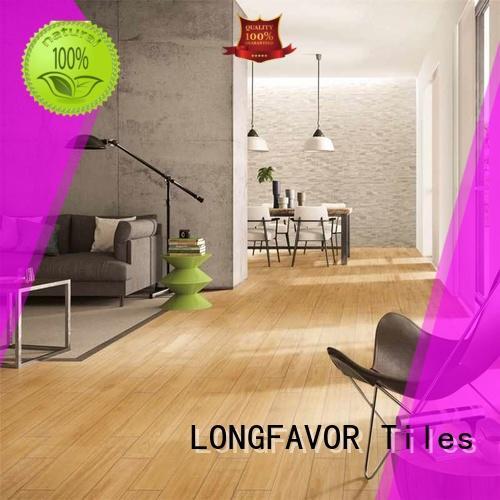 LONGFAVOR low price wooden style floor tiles supplier School