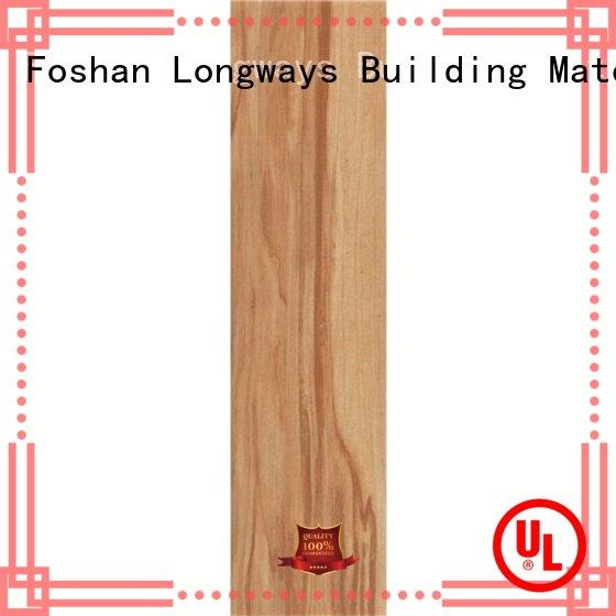 LONGFAVOR 6x24inch ceramic tile wood look planks high quality airport