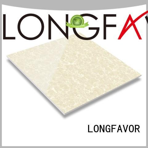 LONGFAVOR customized white polished porcelain tiles oem Shopping Mall