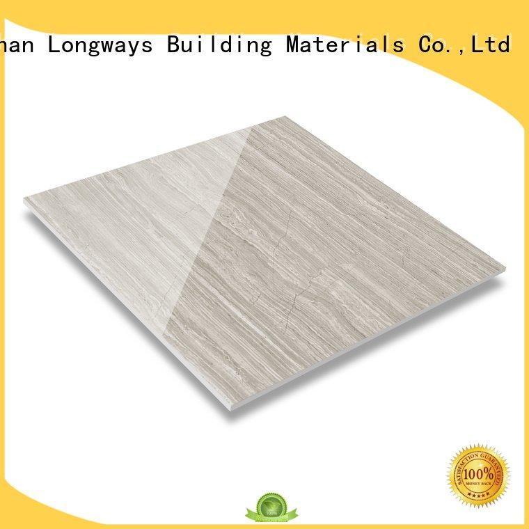 LONGFAVOR black and white floor tiles