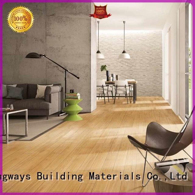 LONGFAVOR flooring wood texture floor tiles ODM Apartment