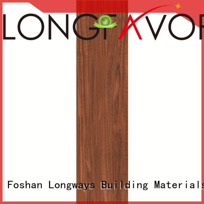 Quality LONGFAVOR Brand yello wood look tile planks