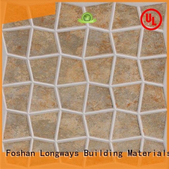 LONGFAVOR 300x300 300x300mm Ceramic Floor Tile strong sense Hotel