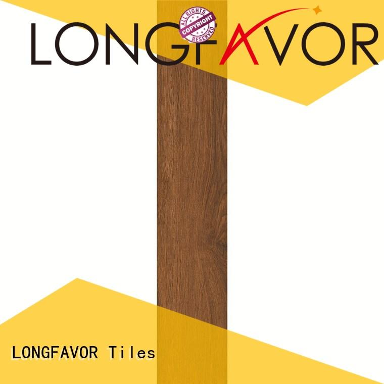 LONGFAVOR low price wooden style floor tiles ODM Apartment