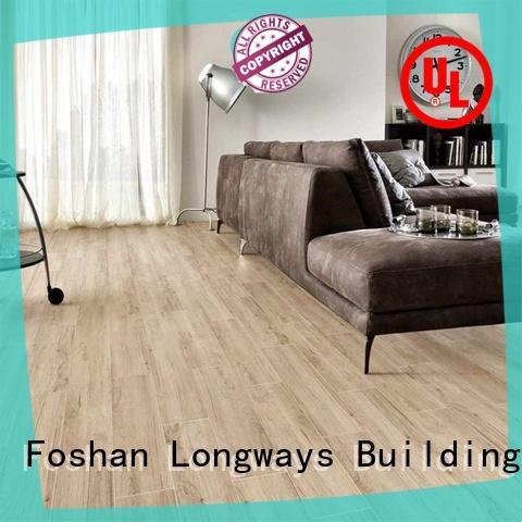LONGFAVOR suitable wooden style floor tiles high quality Super Market