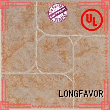 wooden Interior Kitchen Flooring Tiles Ceramic Tile strong sense Apartment LONGFAVOR