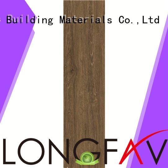 LONGFAVOR Brand polished oak wood effect floor tiles bathroom supplier