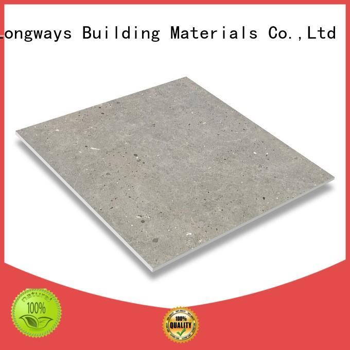 Quality LONGFAVOR Brand porcelain tile that looks like cement tile white