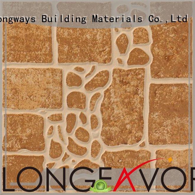 LONGFAVOR wooden 300x300mm Ceramic Floor Tile excellent decorative effect School