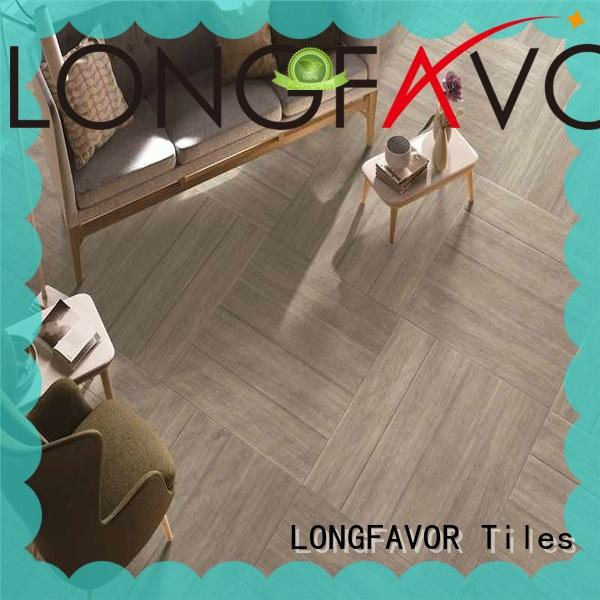 LONGFAVOR suitable wood look tile planks high quality Shopping Mall