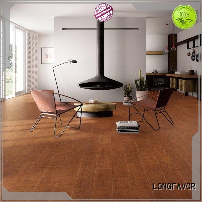150X600mm Brown Wood-look Ceramic Room Tile DH156R6A14 Decoration