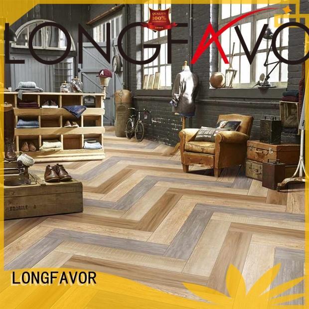 LONGFAVOR low price wood effect outdoor tiles supplier Hotel