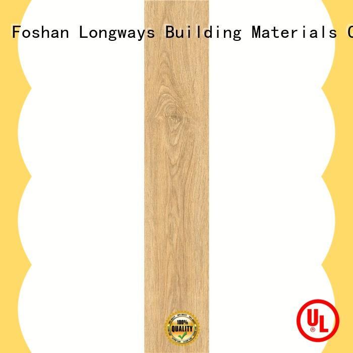 LONGFAVOR inkjet wood look tile cost ODM Hotel