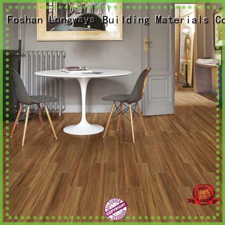LONGFAVOR brown wooden floor tiles price ODM School