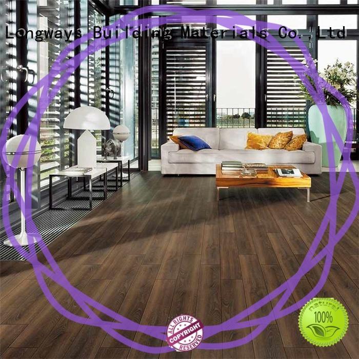 LONGFAVOR low price wooden style floor tiles popular wood School