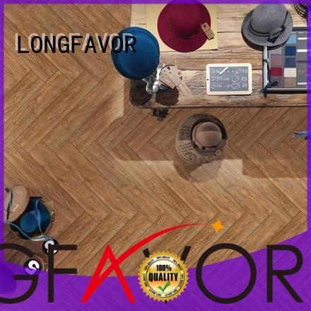 LONGFAVOR new design wood look tile cost popular wood School