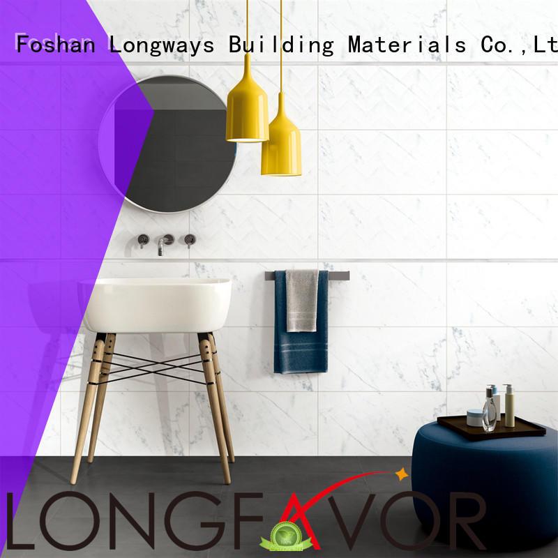 LONGFAVOR white 300x600mm Ceramic Wall Tile oem Coffee Bars