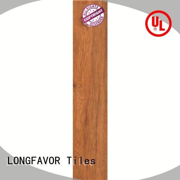 LONGFAVOR low price porcelain hardwood tile popular wood Apartment