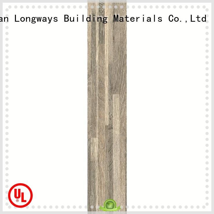 LONGFAVOR natural ceramic tile wood look planks popular wood Apartment