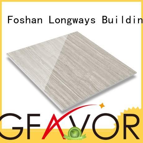 LONGFAVOR black polished glazed tiles oem airport