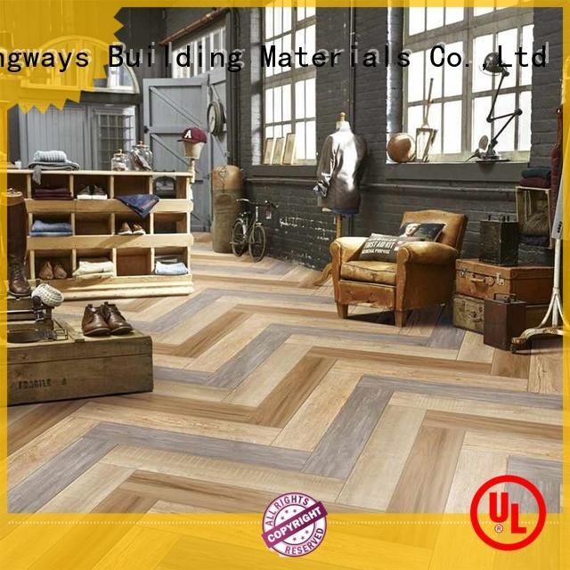 LONGFAVOR dark wood effect outdoor tiles ODM Hotel