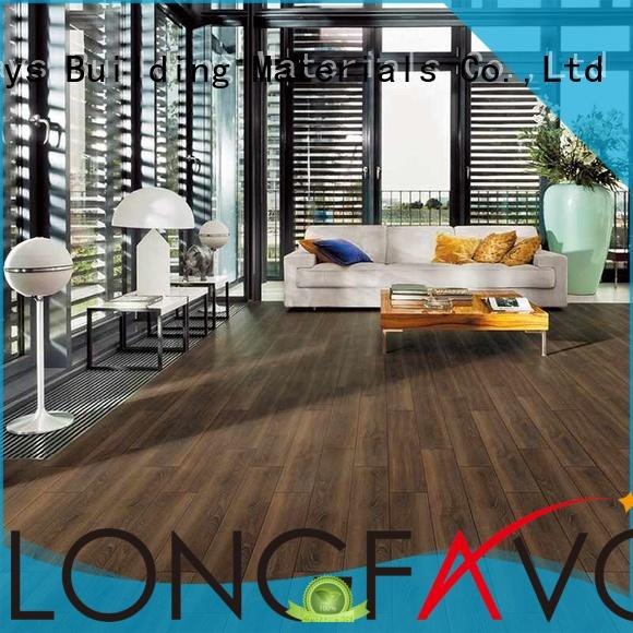 Hot ceramic tile flooring that looks like wood brown LONGFAVOR Brand