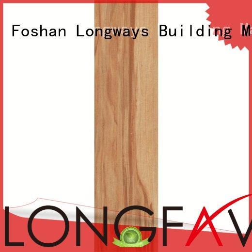 LONGFAVOR dh156r6a15 white wood look porcelain tile high quality Super Market
