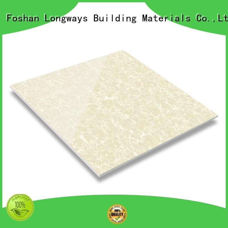 LONGFAVOR super glossy finished polished stone tiles oem airport