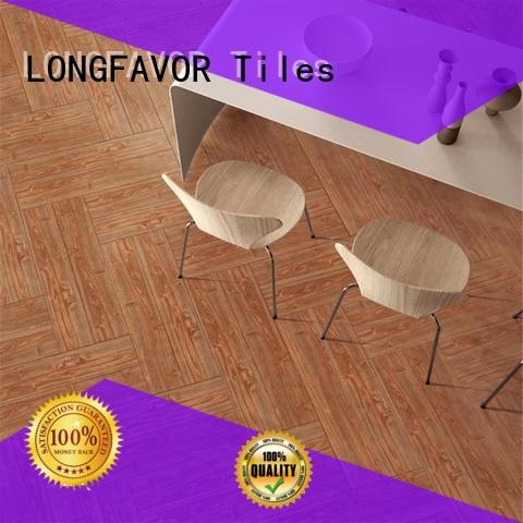 low price wood effect outdoor tiles brown ODM Apartment