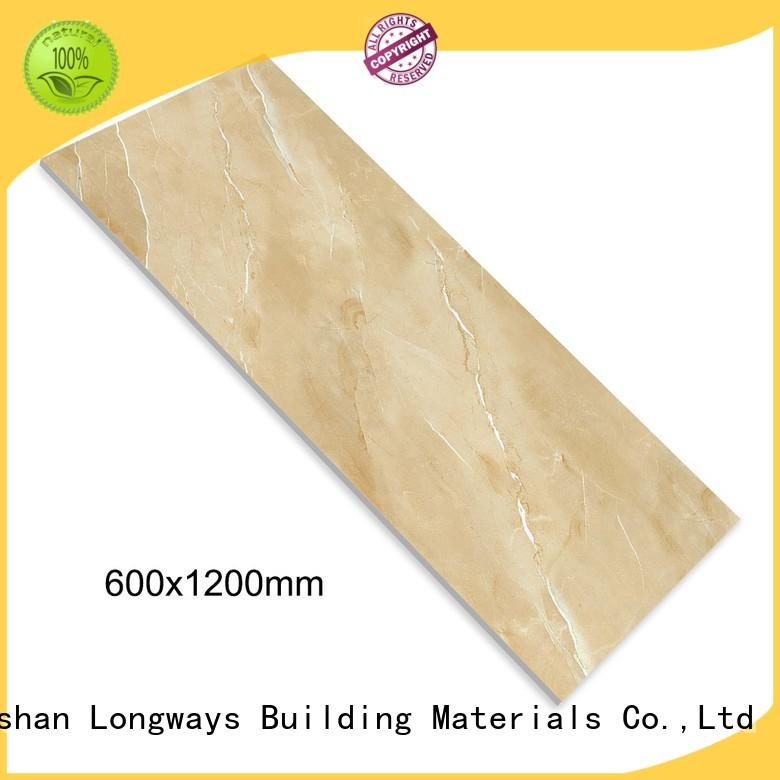 crystallized glass ceramic bathroom floor tiles glossy excellent decorative effect Apartment