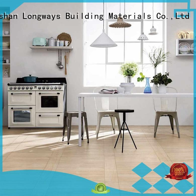 glossiness wooden style floor tiles coffe free sample Shopping Mall