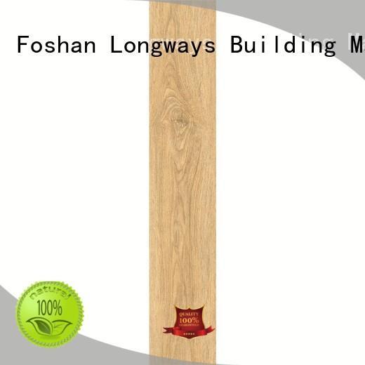 LONGFAVOR brown wooden style floor tiles popular wood School