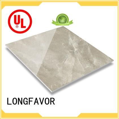LONGFAVOR realistic decorative effect polished glazed tiles high quality Super Market