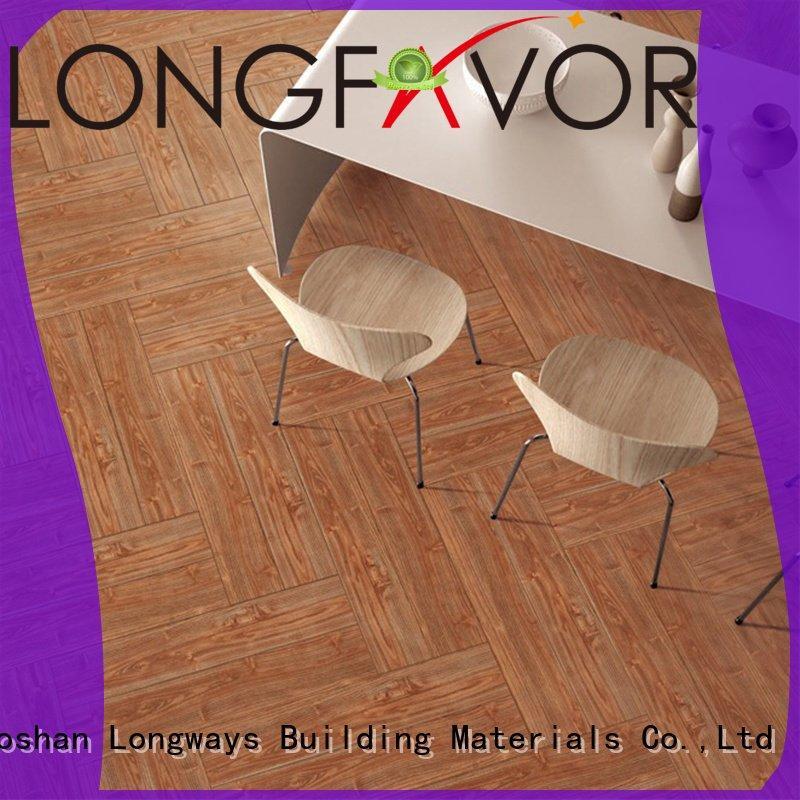 Hot ceramic tile flooring that looks like wood LONGFAVOR Brand