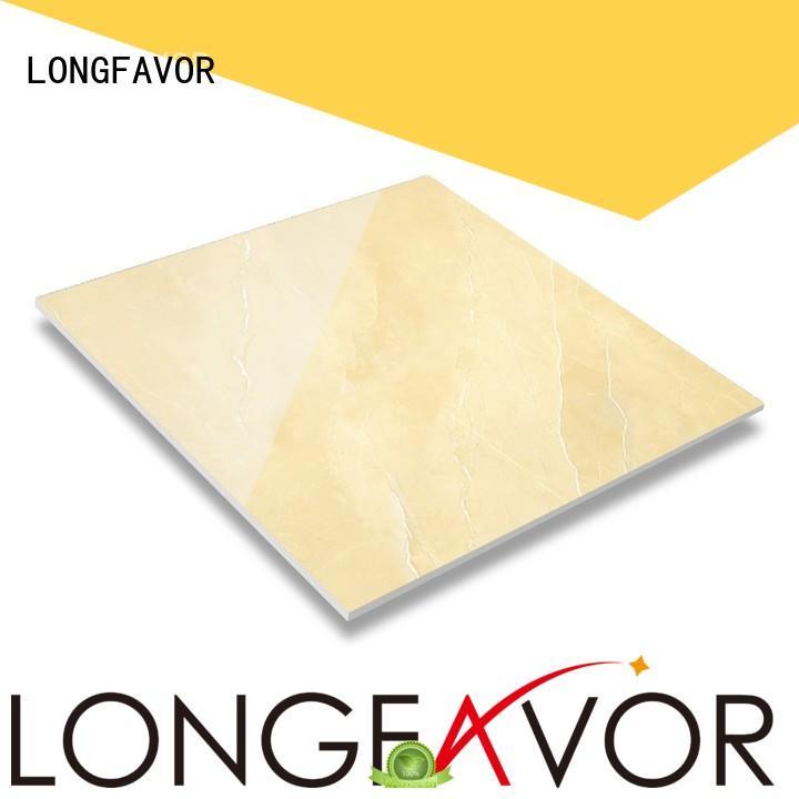 LONGFAVOR crystallized glass bathroom floor and wall tiles hardness Hotel