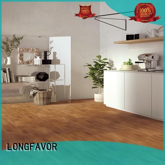 LONGFAVOR suitable wood texture floor tiles high quality Super Market