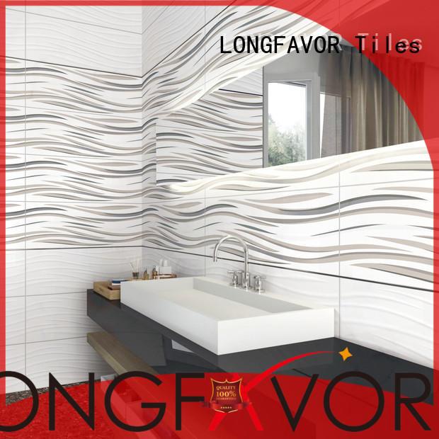 LONGFAVOR white 300x600mm Ceramic Wall Tile for wholesale Walls