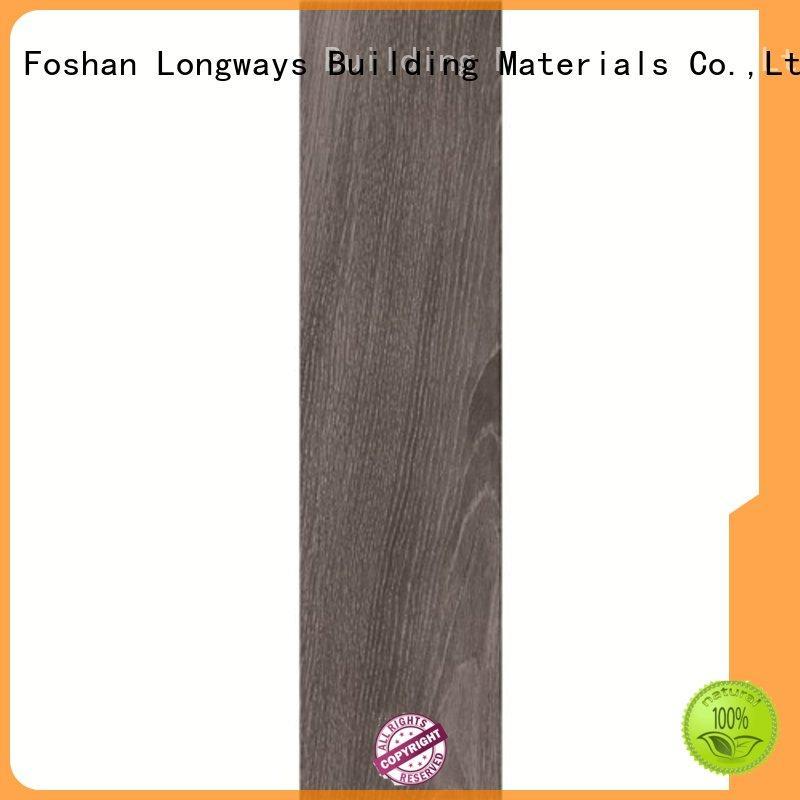 oak wood effect floor tiles body coffe Warranty LONGFAVOR