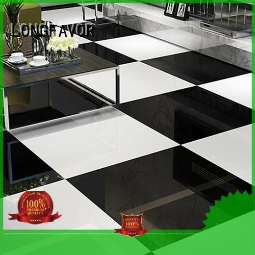 LONGFAVOR super glossy finished polished stone tiles oem Shopping Mall