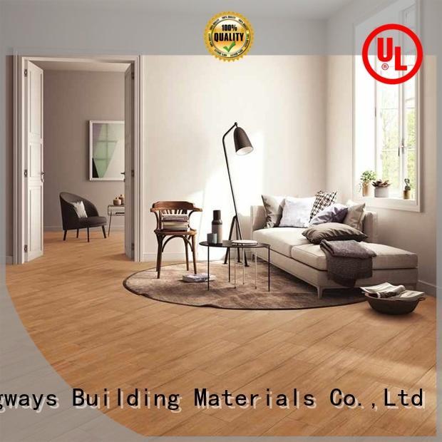 LONGFAVOR dh158r6b14 wooden style floor tiles supplier Apartment