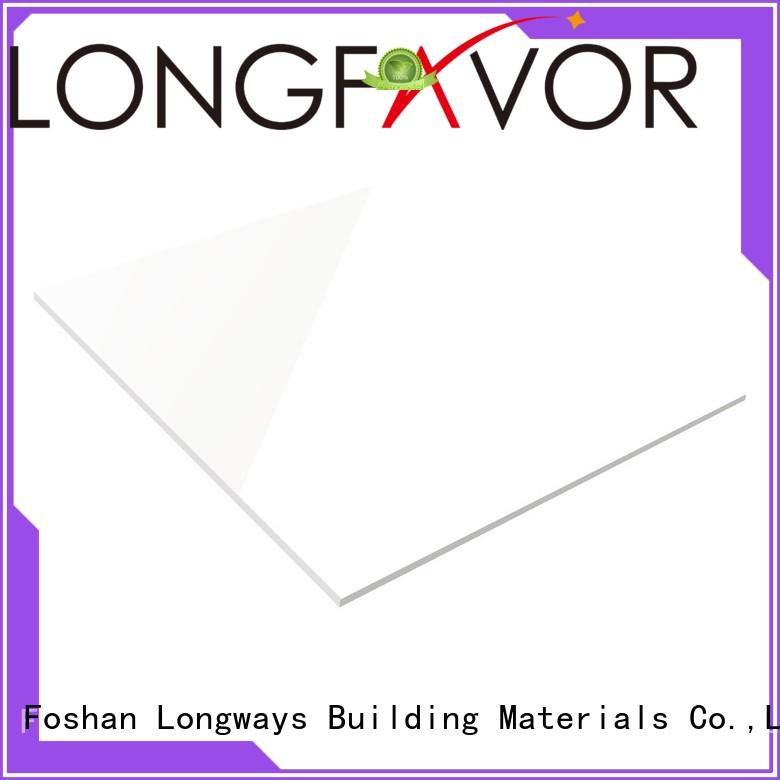 LONGFAVOR white Gres Gloss White Porcelain Floor Tile high quality Apartment