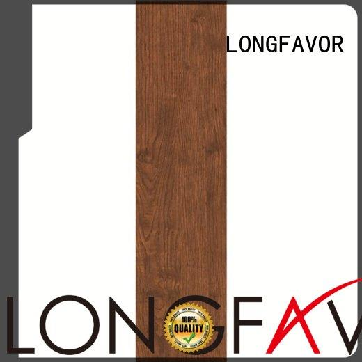 LONGFAVOR glossiness wood tile flooring cost high quality Shopping Mall