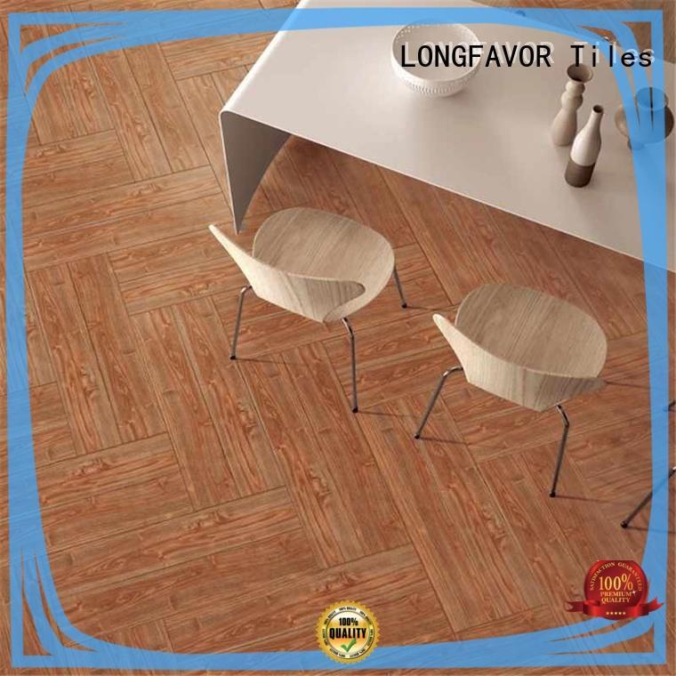 LONGFAVOR sz158407 wood texture floor tiles supplier Apartment
