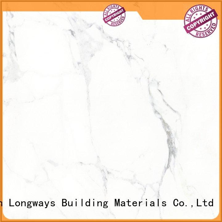 LONGFAVOR polished glazed ceramic tile white porcelain