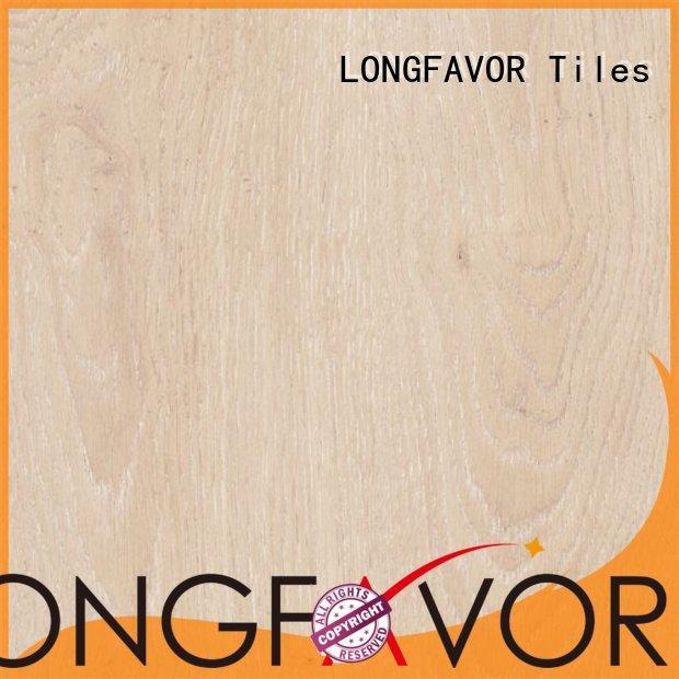 LONGFAVOR new design ceramic tile wood look planks ODM Bookshop