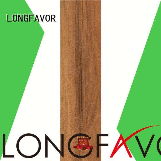 LONGFAVOR faux wooden style floor tiles high quality Shopping Mall