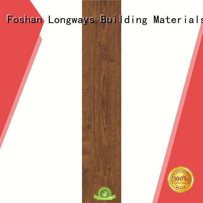 Wholesale ceramic tile flooring that looks like wood LONGFAVOR Brand