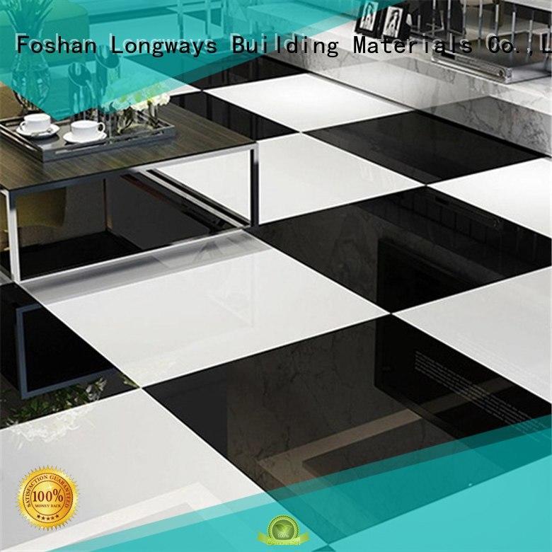 LONGFAVOR pure black polished travertine tile generation airport