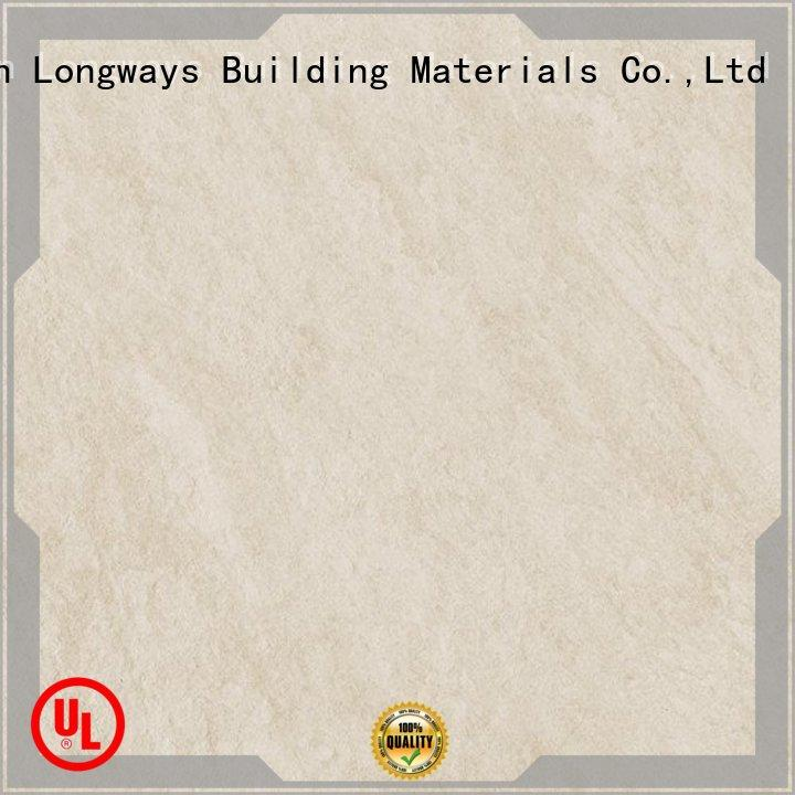 LONGFAVOR white stone effect porcelain floor tiles high quality Coffee Bars